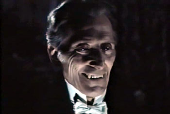 Peter Cushing as a vampire.